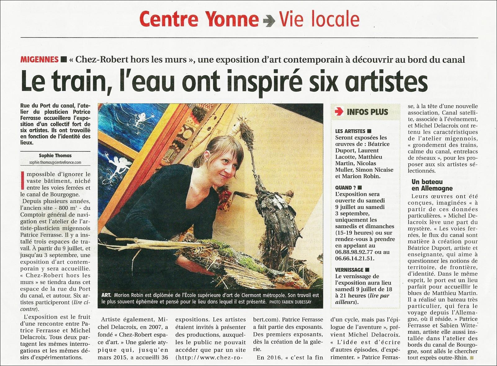 Yonne Républicaine Samedi 2 Juillet 2016